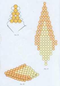 Звезда из бисера по схеме с описанием плетения для начинающих