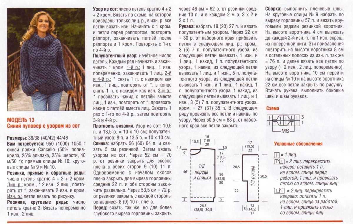 Схем вязания английской резинки 326