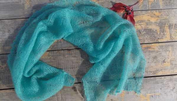 шарф из мохера спицами в схемах и видео уроках с описанием вязания