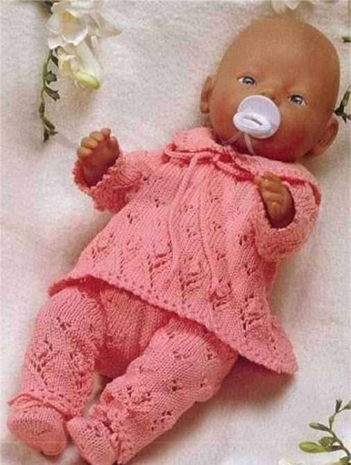 вязаная одежда для кукол спицами со схемами и описанием Prakard