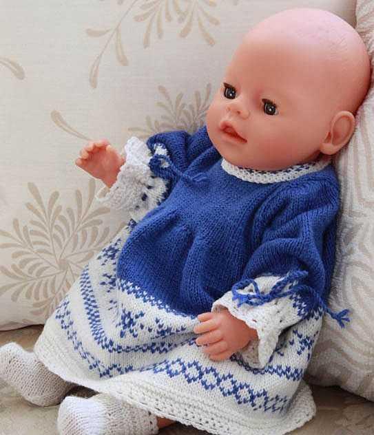 вязаная одежда для кукол спицами в подробноф фото и видео мастер классе