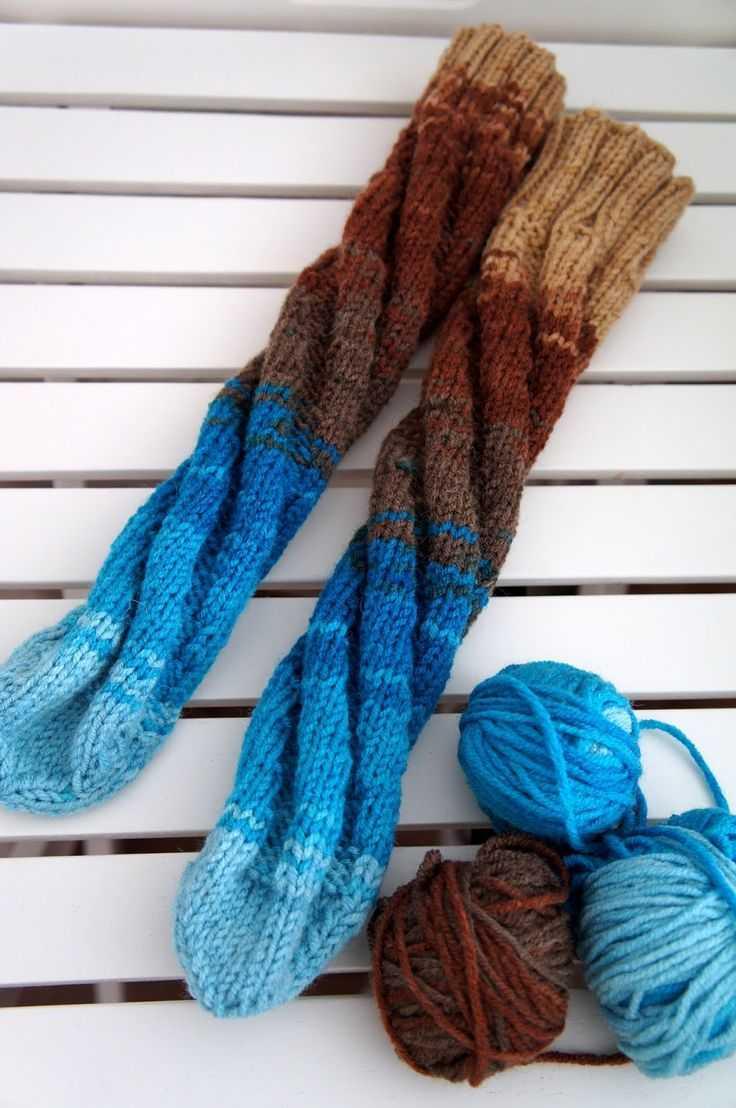 носки спицами по спирали обучение технике вязания