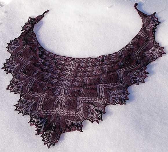 Схемы ажурных шалей с ракушками для вязания крючком - Pinterest 42