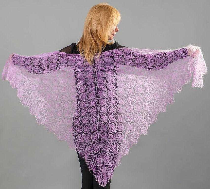 вязание шалей спицами начинающих