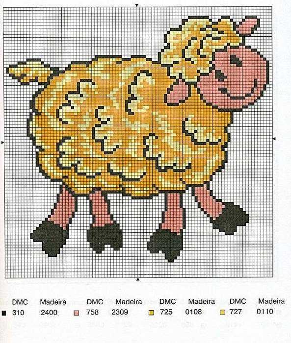 Овца схема для вышивки