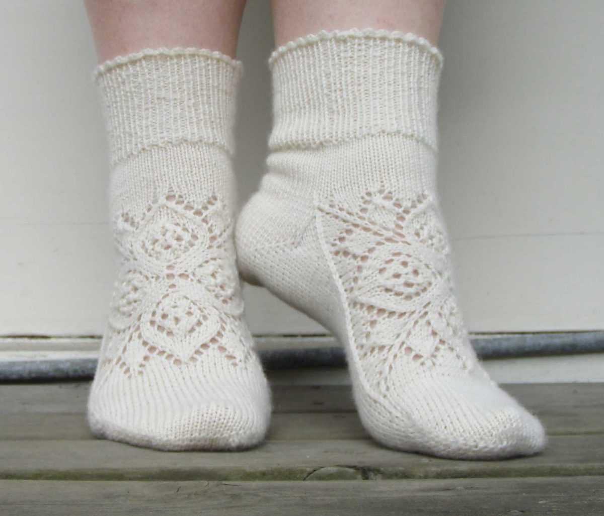 Ажурные носочки спицами схема 998