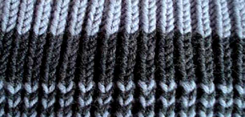 английская резинка спицами схема вязания фото и видео