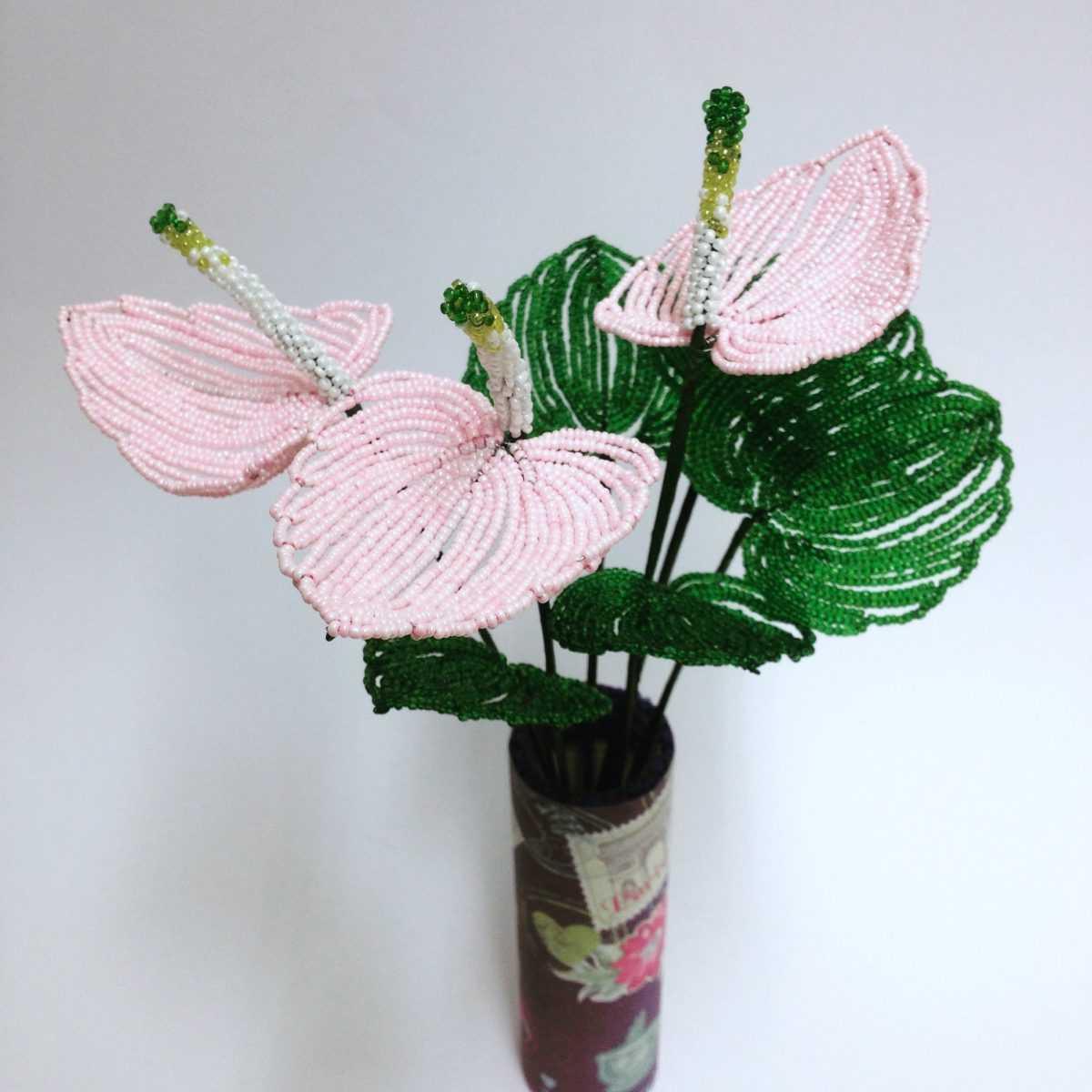плетение бисером цветок схемы