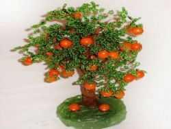 Фото апельсиновых деревьев из бисера