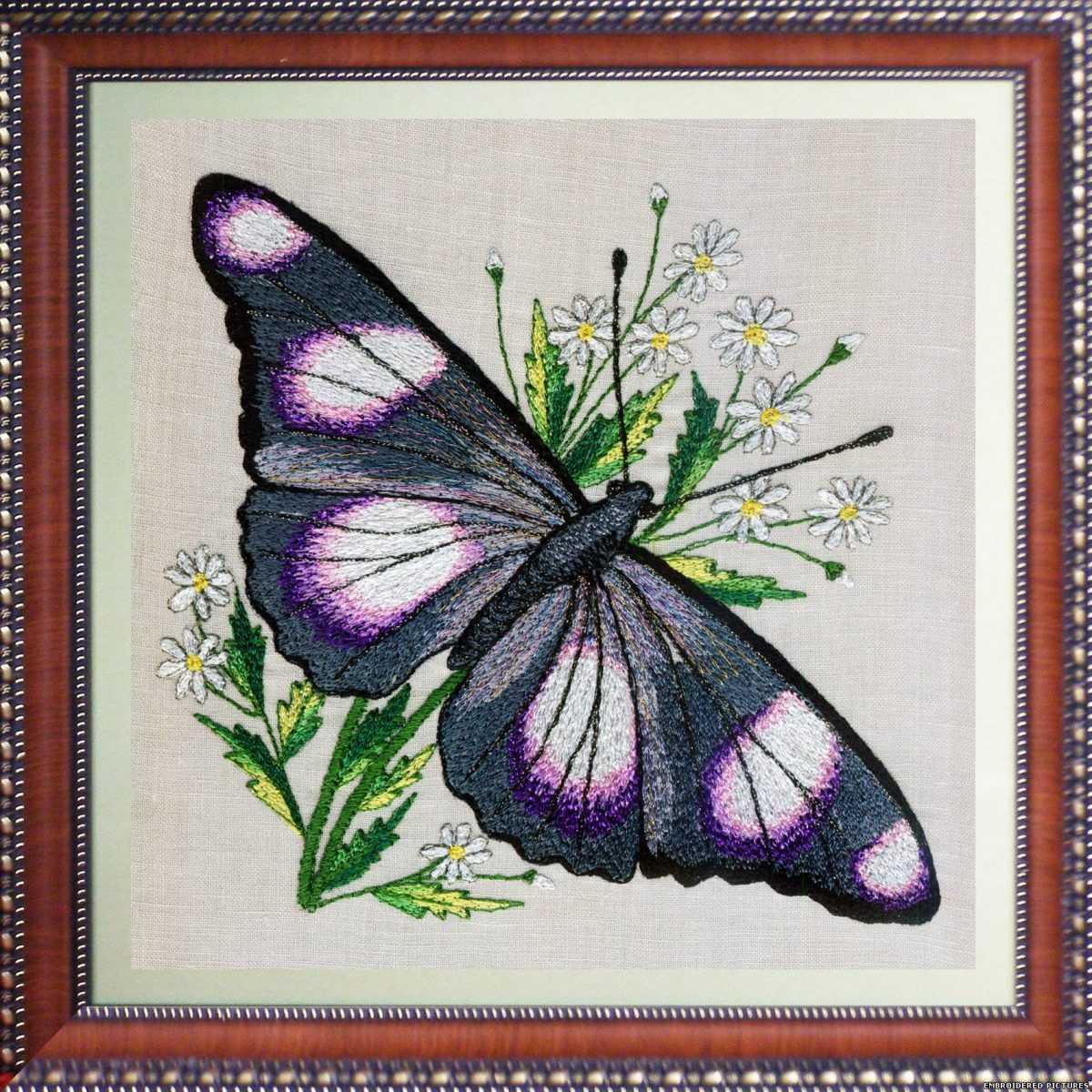 Вышивка гладью рисунки бабочек 63