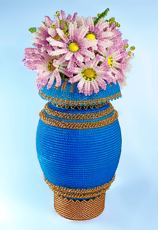 вазочки шкатулки горшочки только из бисера фото могут