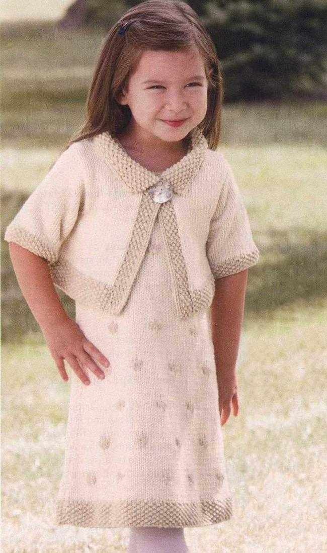 болеро для девочки вязание спицами с описанием и схемой