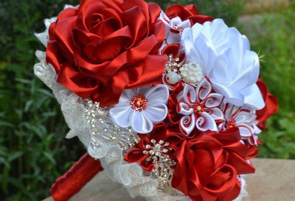 Свадебные букеты своими руками канзаши