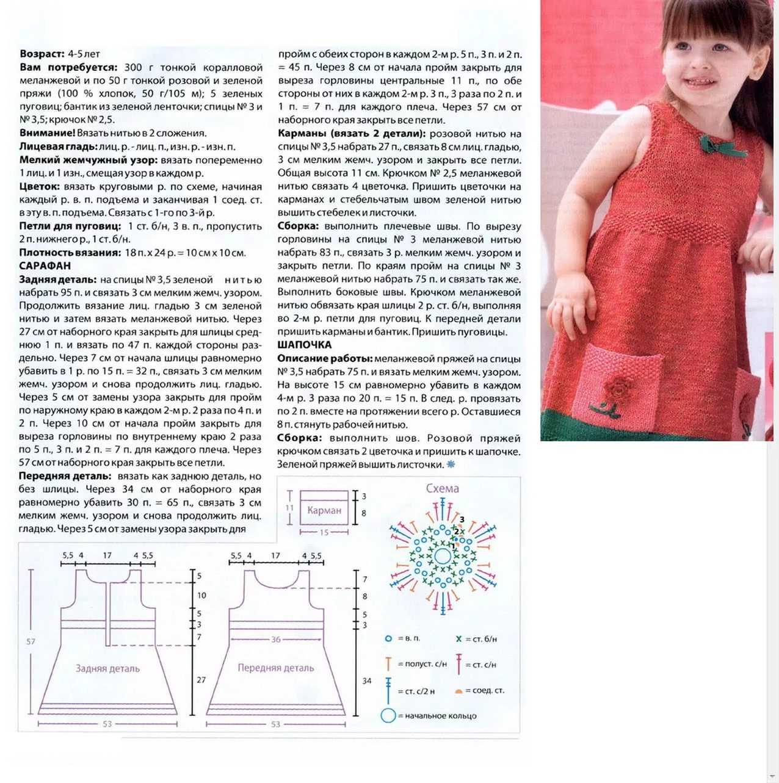 Схема вязания девочке платья картинки