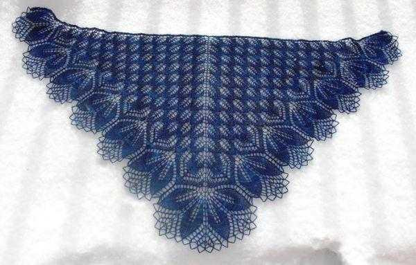 описание вязания шали харуни спицами по схеме и видео уроку