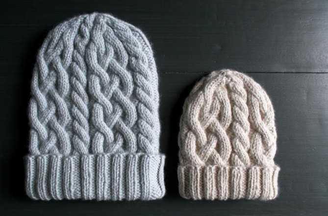 шапка с косами вязаная спицами по схеме