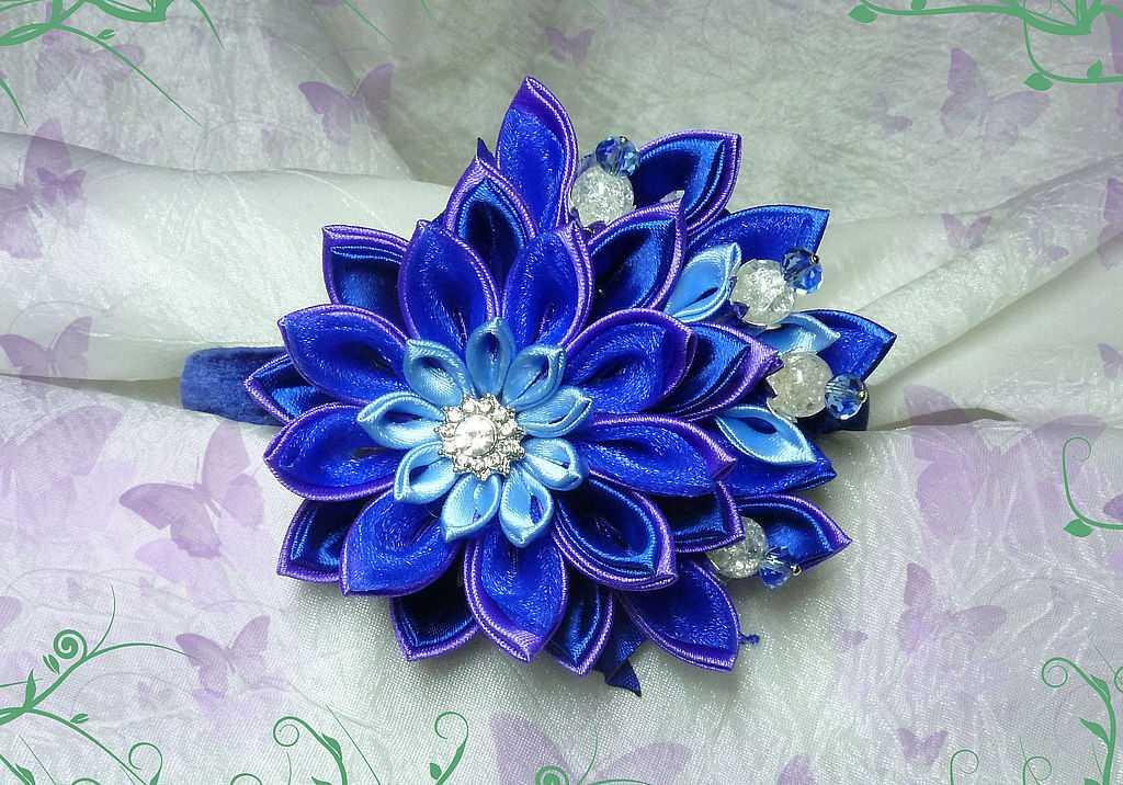 Букеты цветов своими руками из ленточек