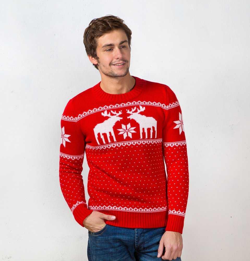 схема вязания мужского молодежного свитера