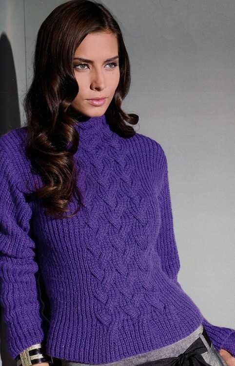 схема вязания спицами свитера женского для начинающих