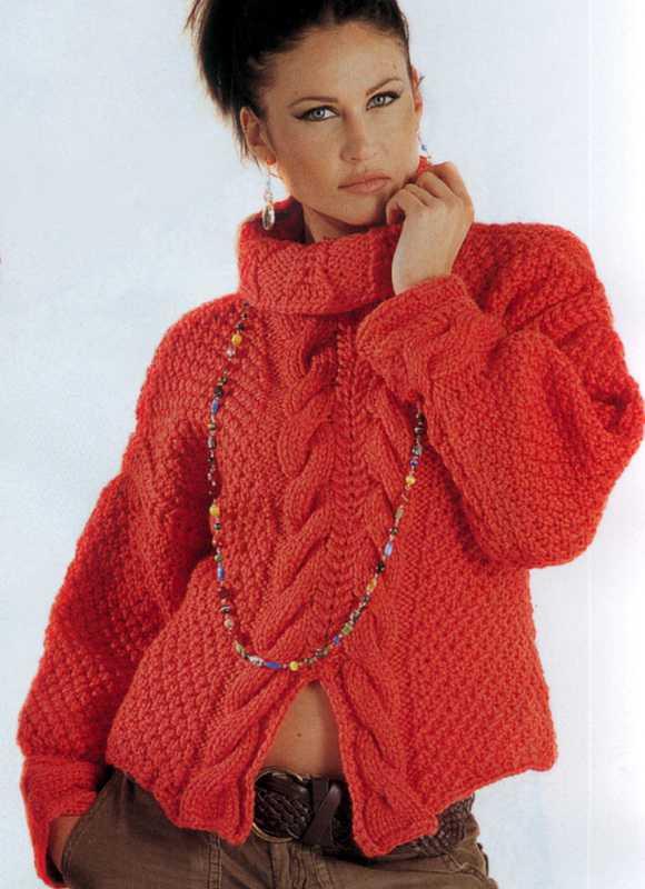 свитер спицами женский вязание по схеме с описанием