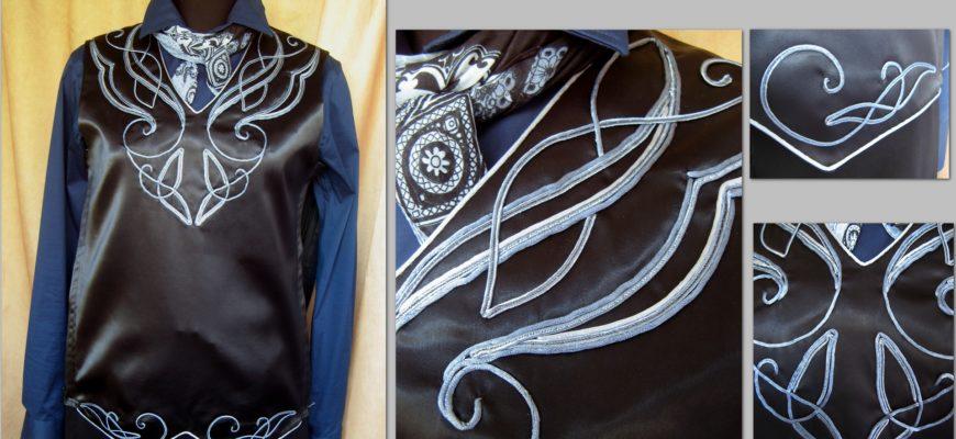 декор одежды сутажным шнуром