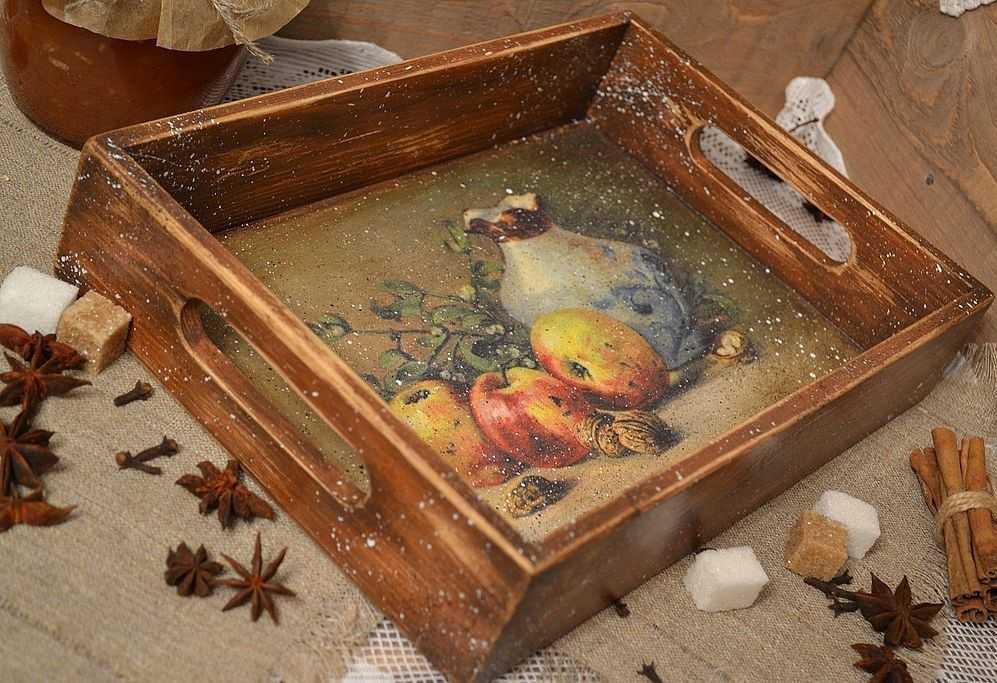 Декупаж деревянных изделий 147