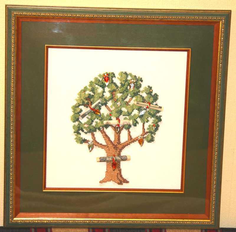 Денежное дерево вышивка крестом схема скачать