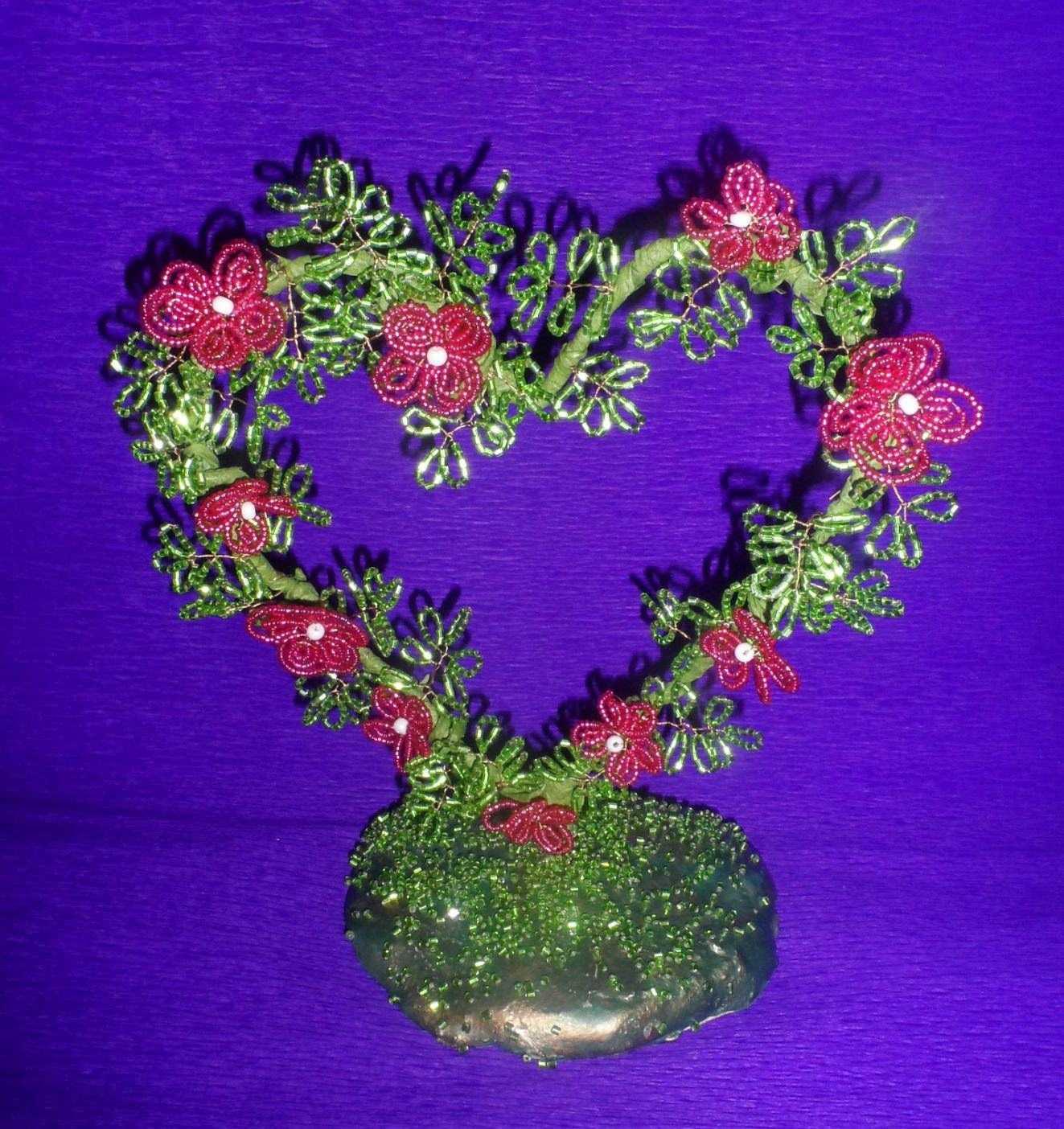 плетения из бисера дерево любви схема