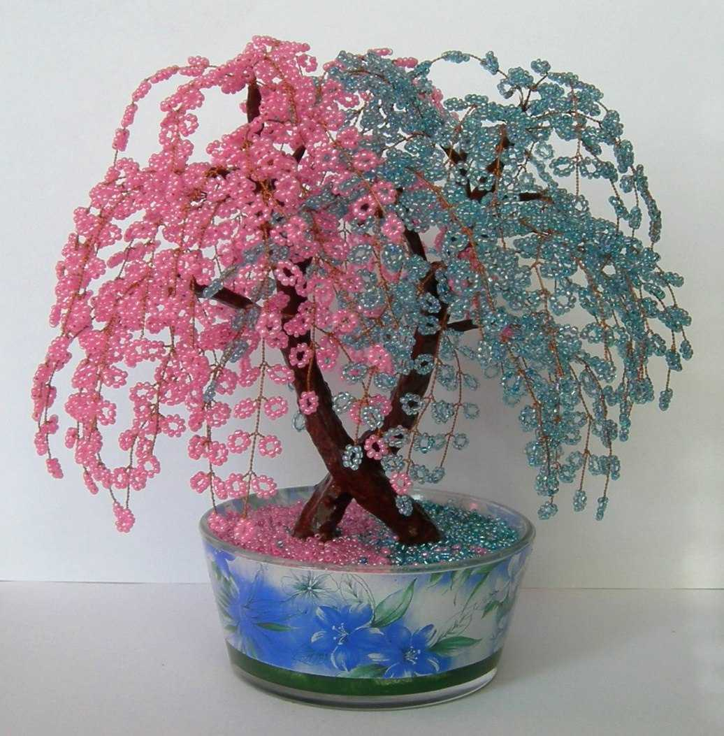 Дерево счастья из бисера своими руками фото 32