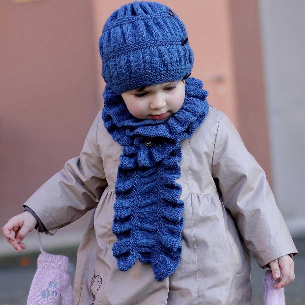 Узоры вязания детских шапочек на спицах