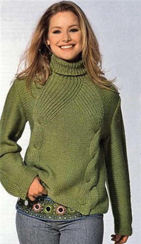 Вязаные свитера спицами женские 63