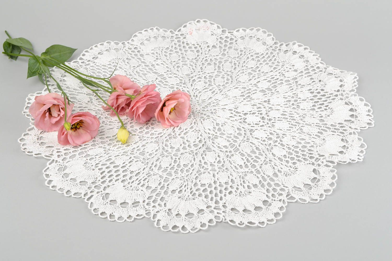 филейное вязание овальная салфетка