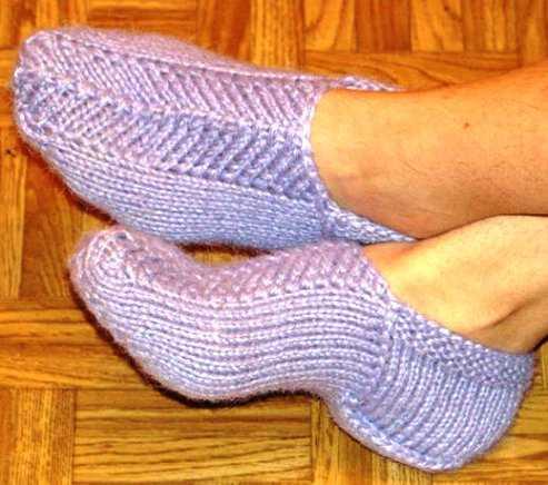 Вязание носков на 2 спицах. Схемы с подробным