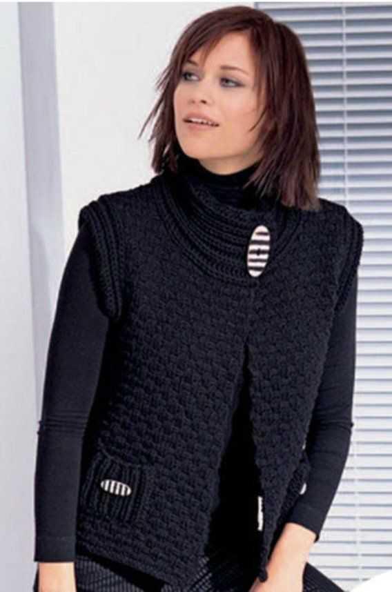жилет спицами для женщин вяжем разные модели