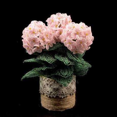 Орхидея из бисера мастер класс с пошаговым фото для