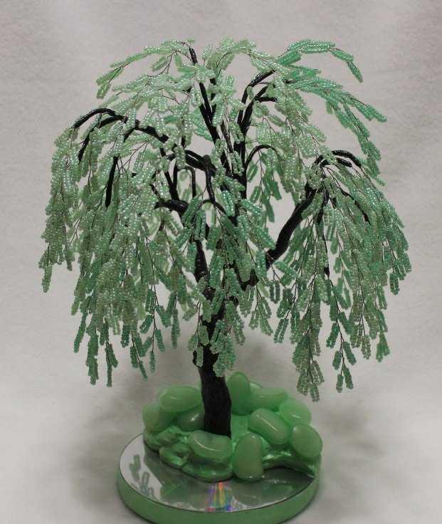 плетение бисером деревья фото