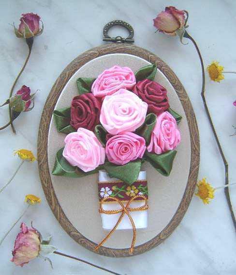 Картины своими руками из розы 592