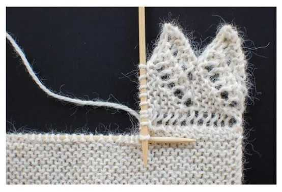 Вязание спицами краев и каймы