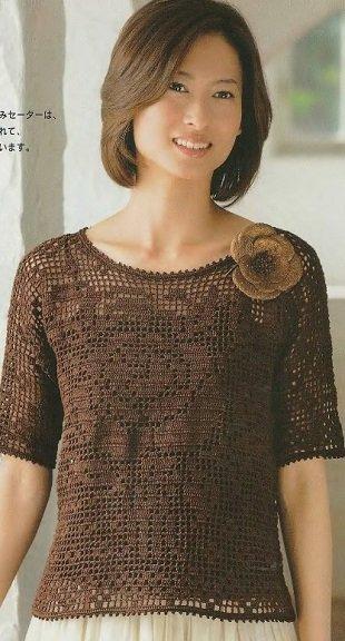 Кофейная блузка