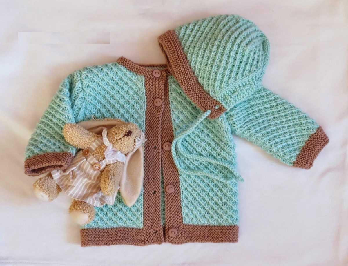 Вязание спицами кофточки для новорожденного по фото и видео МК