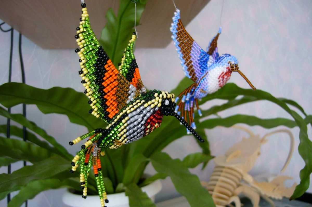 попугай из бисера и схема плетения