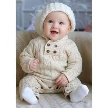 вязанный спицами комбинезон для новорожденных в фото видео мк