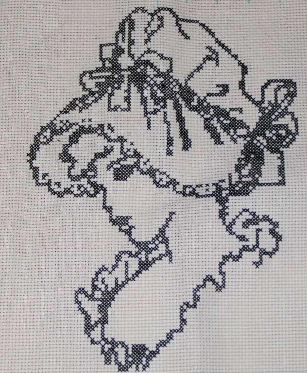 Схемы для контурной вышивки монохром