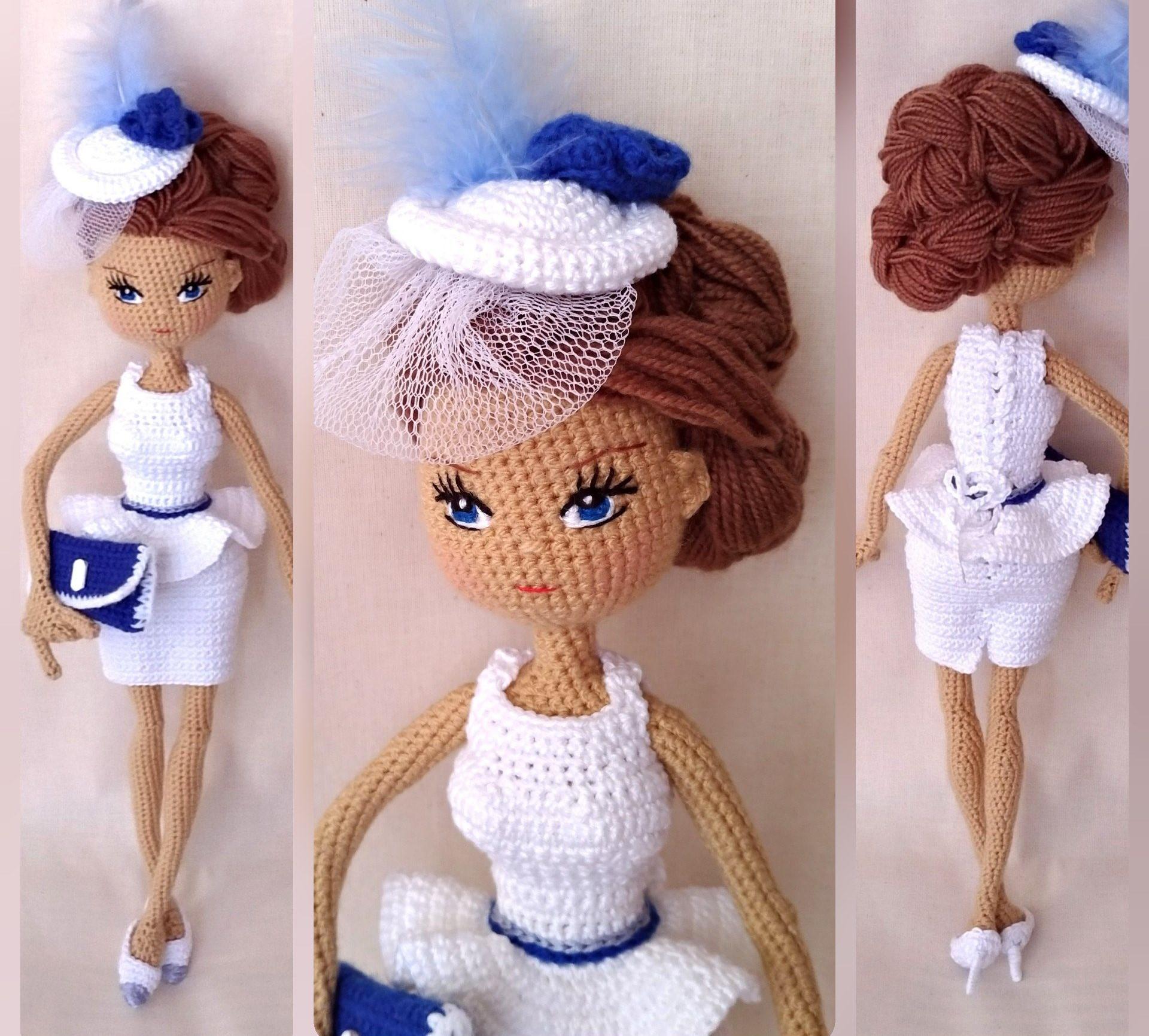 кукла Барби амигуруми крючком