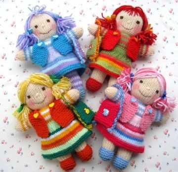 вязаные куклы спицами мастер класс с пошаговыми фото