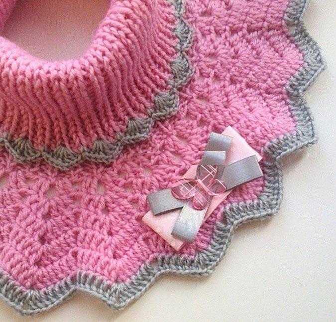 Манишка спицами для ребенка особенности вязания изделия