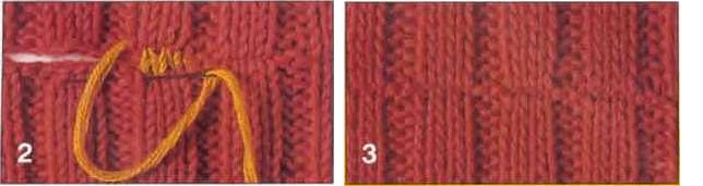 матрасный шов в вязании