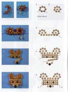 Плетём мишку с шарфом из бисера своими руками - разные мастер классы