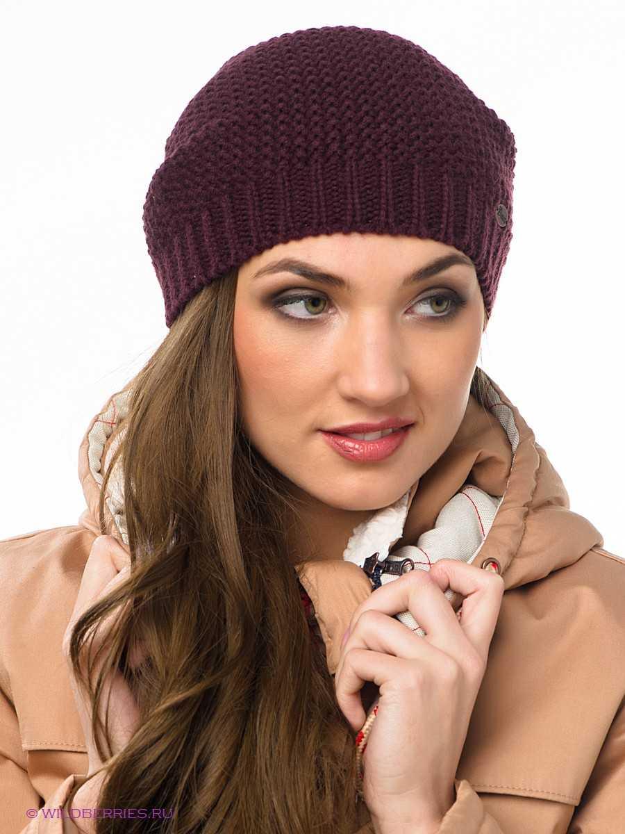 Вязание спицами молодежных женских шапок по схеме с описанием