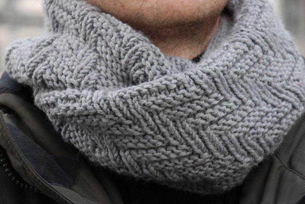 варианты вязания мужских шарфов спицами по схемам